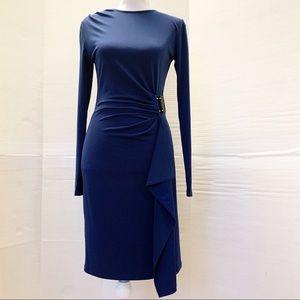 Michael kors sheath dress with drape details